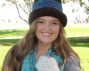 Women's Brown Bowler Hat