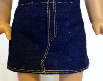 18 Inch Doll Clothes, Denim Jean Skirt