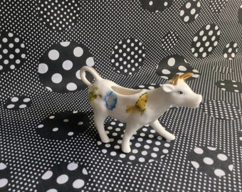 Grazing Gracie~Gracie China~by Coastline Imports~Gold Horns~Gilded~Cow Creamer~