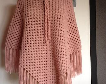Light pink shawl  - ref 167