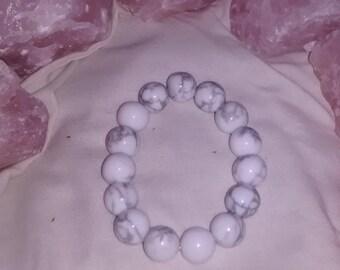 White Howlite Power Bracelet