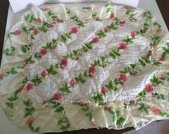 Rosy ruffled pillow sham, free shipping!