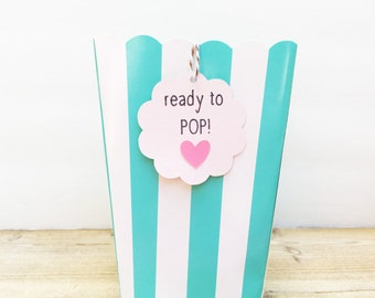 Ready To Pop Baby Shower, Baby Shower Favor Tags, Ready to Pop Tags, Ready to Pop Favors, Baby Shower Favors Ready to Pop, Custom Favor Tags