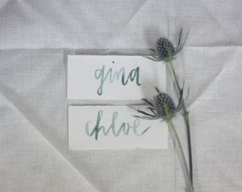 Watercolor place cards / seating cards / name tags