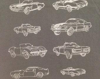 Muscle Car Tee Shirt- Black Muscle Car Shirt- Muscle Car Gift-Classic Cars- Classic Cars Gift-Car Tee Shirt- Car Gift- Size Medium