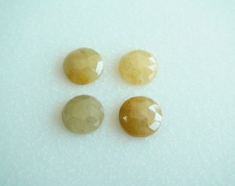 Natural Yellow Sapphires Rose Cut Round. Size 10-10.5 mm. Yellow Color Sapphires. Nice Quality. Priced by lot.