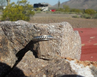 Vintage Sterling Silver Rope Braid Simple Ring Band Mexico 925 SZ 6/7