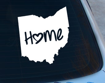 Ohio Decal - State Decal - Home Decal - OH Sticker - Love - Laptop - Macbook - Car Decal