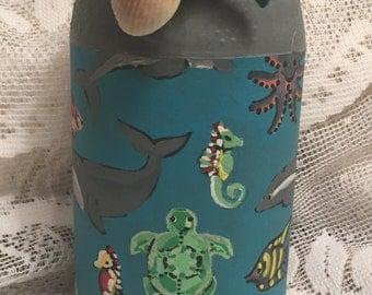 Decorative Ocean Scene Smucker's Jelly Jar