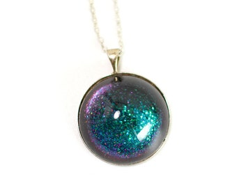 Pendant Deep Teal Galaxy