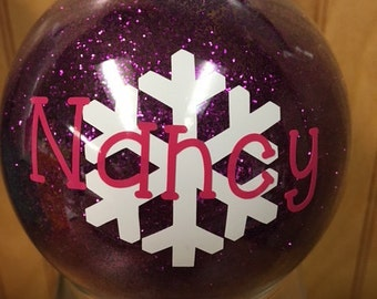 Personalized Glitter Ornament