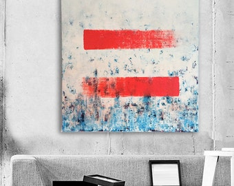 "Abstract Painting Oranje Painting White Abstract Art Original Painting ""UniversalBalance"" fine art painting art by Michel Cekalovic"