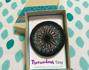Brilliant Bike Wheel Pin - Choose Your Color of Glitter for a Custom Sparkle!