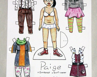 "Cut-Out Paper Doll - ""Paige"""