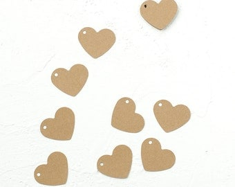 24 Kraft Paper Heart Shaped Tags-Gift Enclosure-Place Card-Wrapping Idea-Scrapbooking-Heart Place Name-Envelope-Decoration-Wedding-Vintage