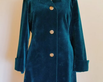 Green velvet coat vintage Surrey Classics