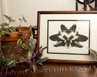 German Shepherd Print Dog GSD Pet Psychology Psychiatry Ink Blot Inkblot Rorschach