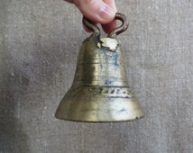 A Russian Troika bell. Antique brass bell for horse. Russian casting. The beginning of 20th century.