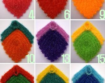 Buy 5 Get 1 Free / Crochet Leaf Shape Dish Scrubbies / Leaf Shape Susemi / Dish Scrubbies / Scrubber