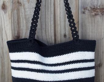 Handmade Crochet Tote, Crochet Bag, Market Bag