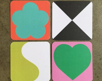 Colorful Set of 8 Coasters