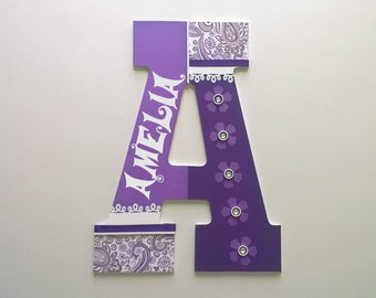 "Jumbo Personalized Name, Custom Initials 13"" Letters for Nursery or Kid's Room"