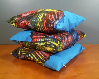 "Set of three pillow covers - ""Villasukka"" - Marimekko size 16x16"" / 40x40cm (P6)"