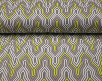 fabric pattern small chevron yellow and grey