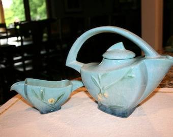 Original Roseville Teapot and Creamer//Pattern ~ Wincraft//Vintage Roseville Teapot and Creamer