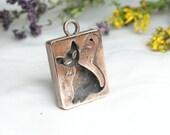 Copper jewelry Unique pendant Cat Pendant  Copper pendant for arthritis For mom  Copper pendant Gift for women Boho style Cat jewelry
