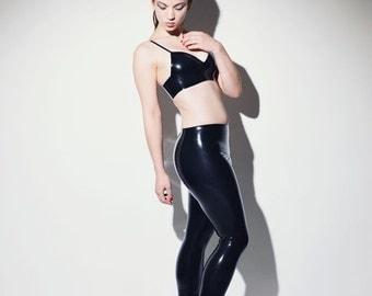 Zippered Strict Latex Leggings - Chronomatic Luxury Latex Wear