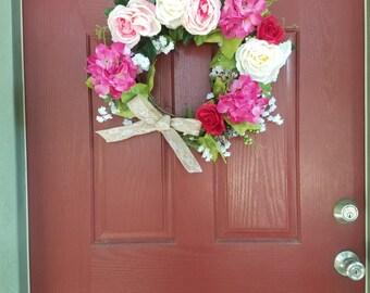 Handmade Spring/Summer Wreath