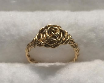 Twisted Rosette Wire Ring