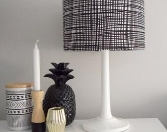 Black Crazy Check, Lampshade, BlackCheck, Home Decor, Black & White, Check,  Modern Lamp Shade, Lighting, Shade, Light