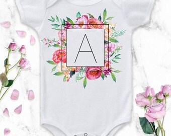 Monogram Baby Girl, Monogram Baby Onesie®, Monogram Baby Outfit, Monogram Baby Girl Outfit, Baby Monogrammed Onesie®, Monogram Clothes