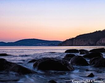 Sunset Photography, Sunset Photo, Landscape Print, Sunset Print, Beach Photo, Beach Print, Beach Download, Coastal Art, Seascape