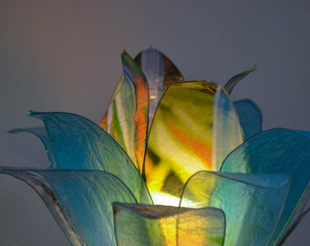 """Lotus Flower lamp """"tropical forest"""""""