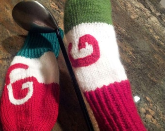 Knit golf covers Etsy UK