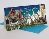 Christmas Cards (pack of 5) - wombat, echidna & other Australian animals