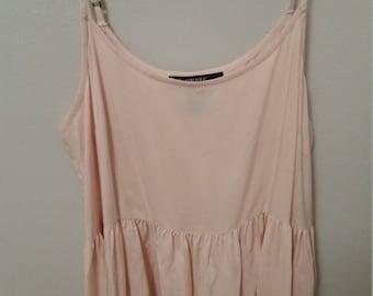 Baby Pink Maxi Dress w/Lace