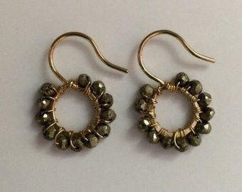 THE LiTTLES pyrite EARRING collection