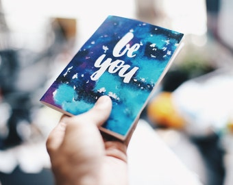 A6 notebook - Be You (blue & purple)