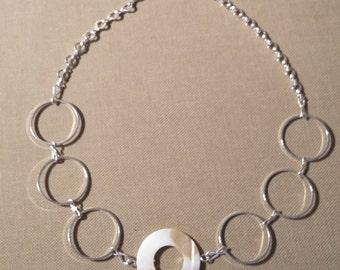 Circling Silver Necklace