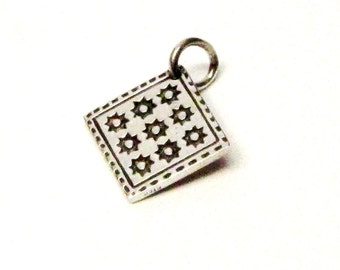 EIGHT POINT STAR Quilt Charm, Quilt Necklace Pendant, Sterling Silver Charms, Quilting Gifts, Quilt Jewelry, Quilt Patterns, Quilt Squares