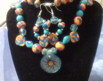 Here comes the Sun! (Necklace & Earring Set )