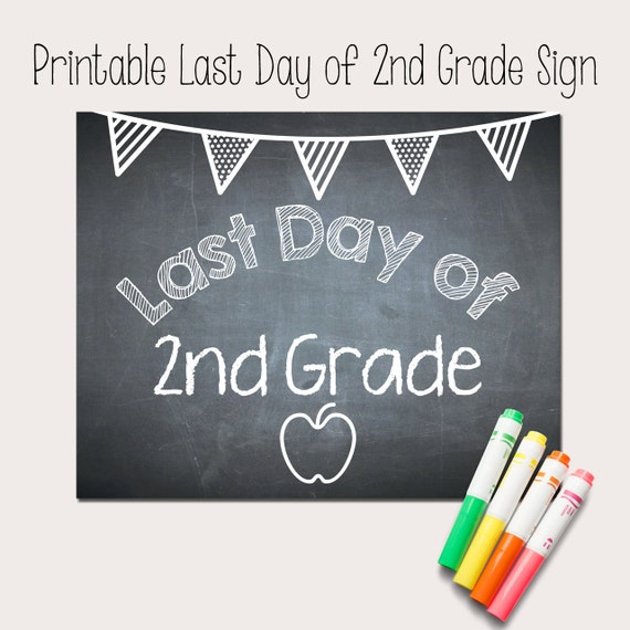 Légend image throughout last day of 2nd grade printable