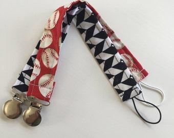 Pacifier Clip/ Baseball Pacifier Clip/ Boy Pacifier Clip
