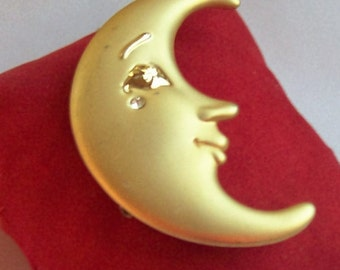 Vintage Moon Brooch