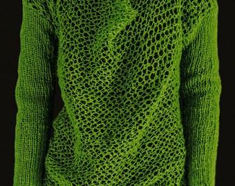Grøn trøje med vandfald