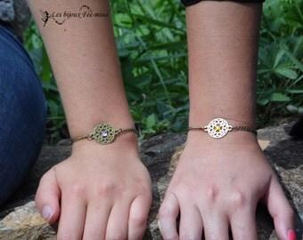 Leila, purple rhinestone bracelet